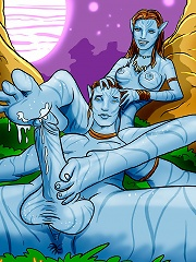 Avatar characters totally naked and having hot alien sex